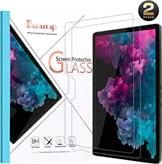 Benazcap Screen Protector for Surface Pro 6/Surface Pro (5th Gen)/Surface Pro 4[2 Pack], Pen Compatible/High Responsivity/Scratch Resistant/Tempered Glass Screen Protector for 12.3 Inch Tablet