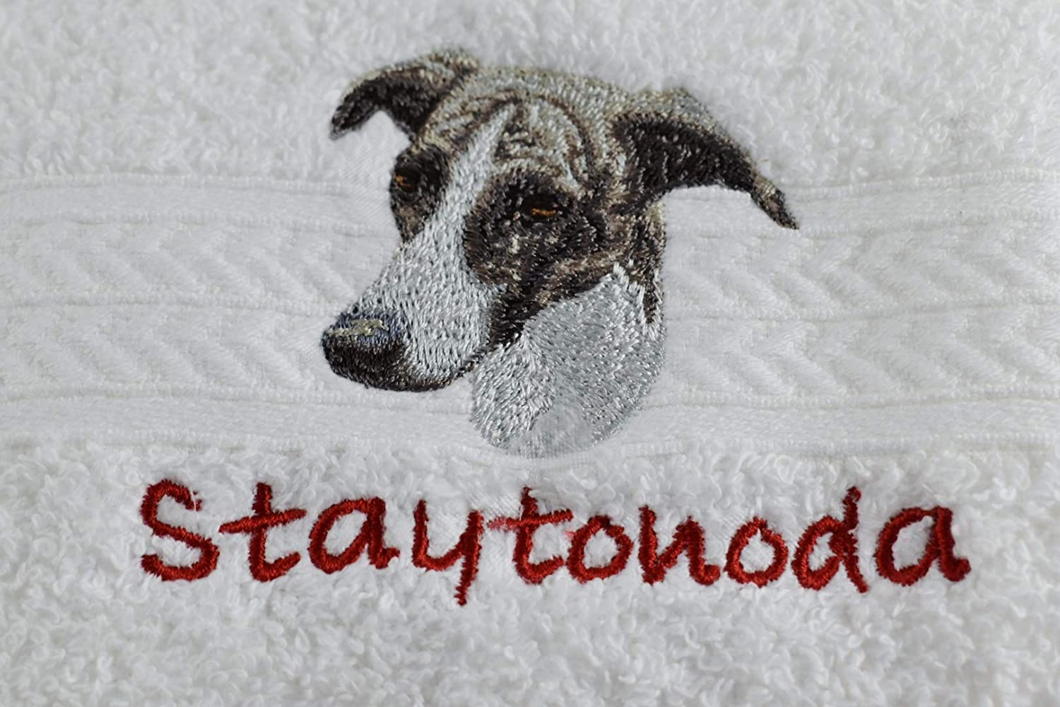 Personalized GREYHOUND 35% Spring new work one after another OFF Dog Breed Luxury Spa Towel or T Hand Golf