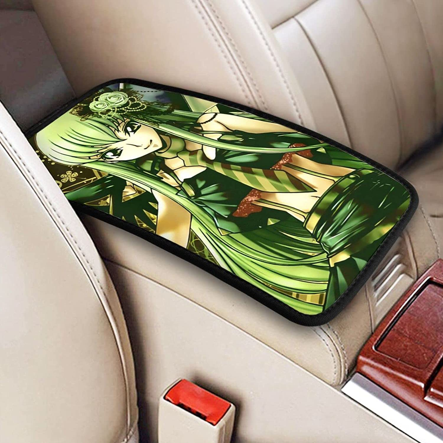 Code Geass cheap Anime Genuine Free Shipping Auto Center Console Armrest Pad C.C Soft Cover