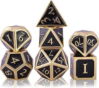 Schleuder Set di Dadi D&D Metallo DND, 7 Dice Set Poliedrici per Dungeons And Dragons, Gioco di Ruolo da Gioco Tavolo per ...
