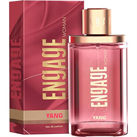 Engage Yang Eau De Parfum for Women, Floral and Fruity, Skin Friendly and Long Lasting, 90ml