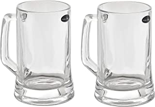 Amlong Crystal Lead Free Beer Mug - 12 oz (Right For 1 Bottle), Set of 2