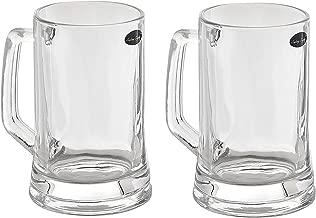 Amlong Crystal Lead Free Beer Mug - 12 oz (Right For 1 Bottle), Set of 2