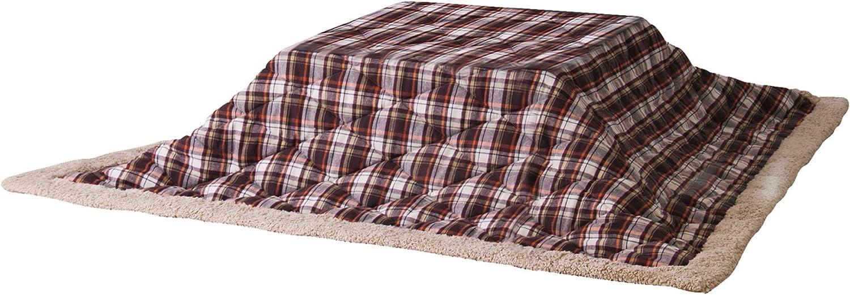 AZUMAYA Thin Quilt futon Square Check KK-103BR