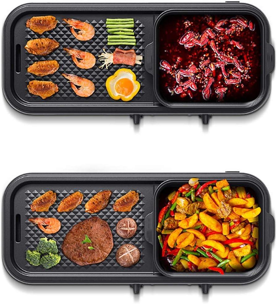 N/A ECSWP Hot Pot Barbecue Pot intégré Ménage Barbecue Séparables Friture Machine Multi-Fonction électrique de Cuisson rôtissoire Cuisinière Brosse (Color : B) A