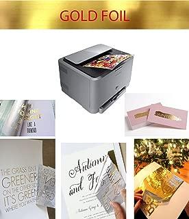 GOLD FOIL TRANSFER, LAMINADO DE IMPRESIÓN LÁSER, COLOR DORADO, 10 HOJAS, A4
