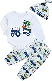 My First Easter Newborn Baby Boy Outfit Happy Easter Romper Top+ Bunny Egg Car Pant+Cute Rabbit Hat Bodysuit Clothes Set