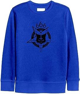 Kids Girls Black Goth Satan Cat Sweatshirt Comfortable Crewneck Kids Hoodies