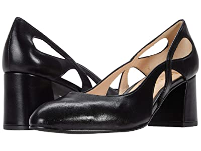 French Sole Groove (Black Nappa) Women