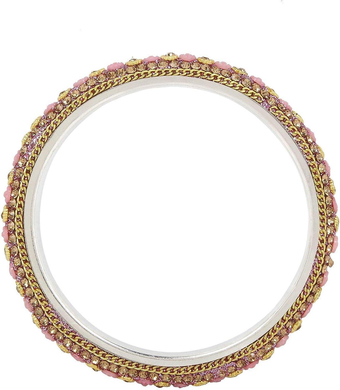Efulgenz Indian Bangle Set Bollywood Style Rhinestone Crystal Bridal Bracelet Jewelry Set for Women Girls