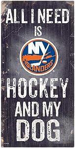 Fan Creations NHL New York Islanders Unisex New York Islanders Hockey and My Dog Sign, Team Color, 6 x 12