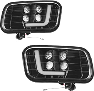 Tecoom LED Fog Light Assemblies for 2009-2012 Dodge Ram 1500/2500/3500 Pair Left and Right Side 2psc with LED Bulbs