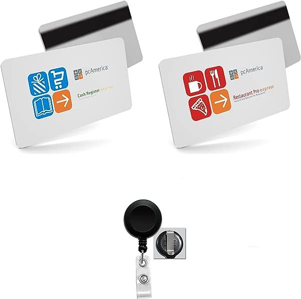 50 PCAmerica Server Swipe Cards 50 Card Holder Reels