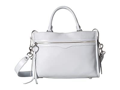 Rebecca Minkoff Bedford Zip Satchel (Ice Grey) Satchel Handbags
