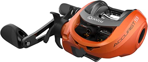 Quantum Accurist S3 PT Baitcast Fishing Reel, 8+1 Bearings, 7.0:1 Gear Ratio, Right Hand