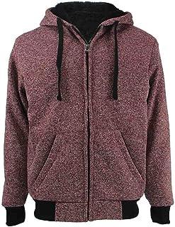 Sponsored Ad - TanBridge Heavyweight Sherpa Lined Plus Sizes Warm Fleece Full Zip Men's Hoodie with Padded Sleeve & Rib Cuffs
