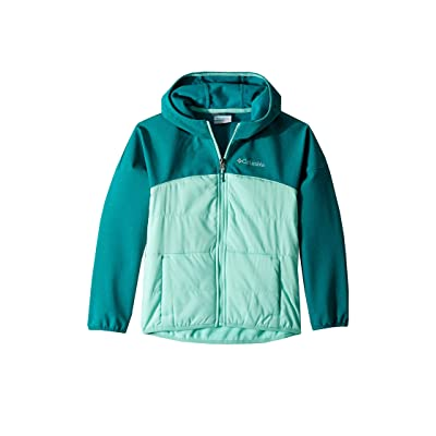Columbia Kids Take A Hiketm Softshell (Little Kids/Big Kids) (Emerald Heather/Pixie) Girl