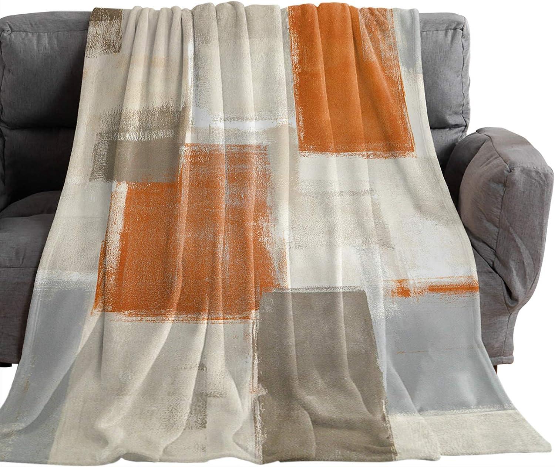 Koupin Save money Life Fuzzy Soft Throw Square Geometric Blankets Sm Orange Excellence