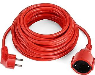 SIMBR Alargador Electrico 10m IP20 H05VV Cable de Corriente para Prolongador Cable Eléctrico de Color Rojo