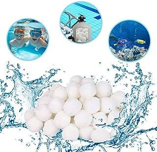 HUOHUOHUO Bolas de filtro de piscina, 500 g, bolas de filtro para instalaciones de filtro de arena, filtro de cartucho, alta permeabilidad al agua, más ligeras, más eficientes, filtrados