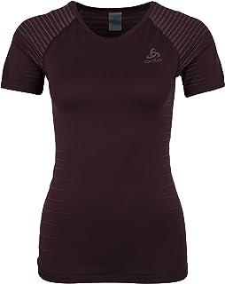 Odlo Women's SUW Performance Light T-Shirt, Plum Perfect/Quail, X-Large