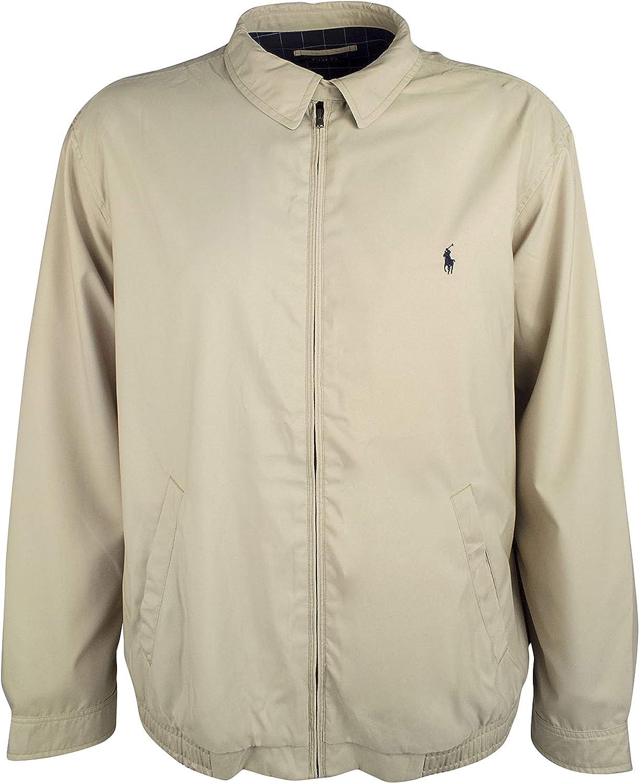 Polo Ralph Lauren Men's Big and Tall Bi-Swing Windbreaker Jacket (2X Tall, Khaki Uniform)