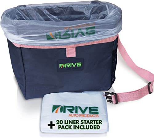 Car Trash Can and Garbage Bag Set: Leak Proof Trash Container with Lid and Accessories to Keep Your Auto Interior Cle...