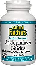 Natural Factors - Acidophilus & Bifidus Double Strength, 10 Billion Active Cells, 180 Capsules