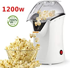 Popcorn Maker, Popcorn Machine, 1200W Hot Air Popcorn Popper Healthy Machine No Oil Needed