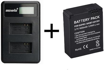 3 x 1180mah batería Hero 3 Plus-AHDBT 301 CARGADOR PARA GoPro Hero 3 302 AHDBT