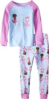 Wonder Nation Tutu Awake to Sleep Girls Toddler 2 Piece Pajama Set, Pink Blue, 2T