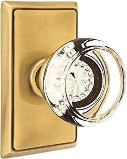 Providence Door Set with Georgetown Crystal Knobs Double Dummy in Antique Brass