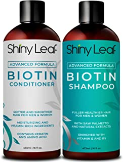 Biotin Shampoo and Conditioner For Hair Growth Advanced Formula, Hair Loss Treatment For Men and Women, For Thicker and Fuller Hair, Paraben Free, Sulfate Free, 16 oz. (473 ml) Bottles