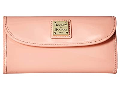 Dooney & Bourke Beacon Patent Continental Clutch (Pale Pink/Pale Pink Trim) Handbags