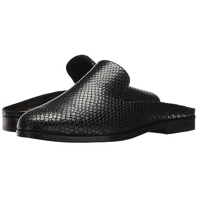 Donna Karan Mott Mule (Black Embossed Snake Leather) Women