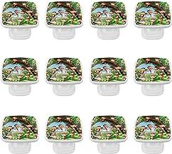 12 Pack ronde keukenkast knoppen trekt (1,18 diameter) - aap leven in het bos illustratie - dressoir lade/deur hardware - ...