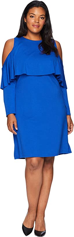 Plus Size Amy Cold Shoulder Dress