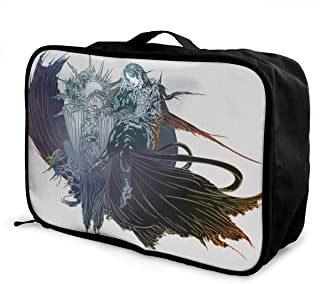 TeriDDeas Unisex Final Fantasy XV Logo Travel Duffel Bags Lightweight Large Capacity Handbags Weekend Pack Overnight Tote Bag Travel Bag