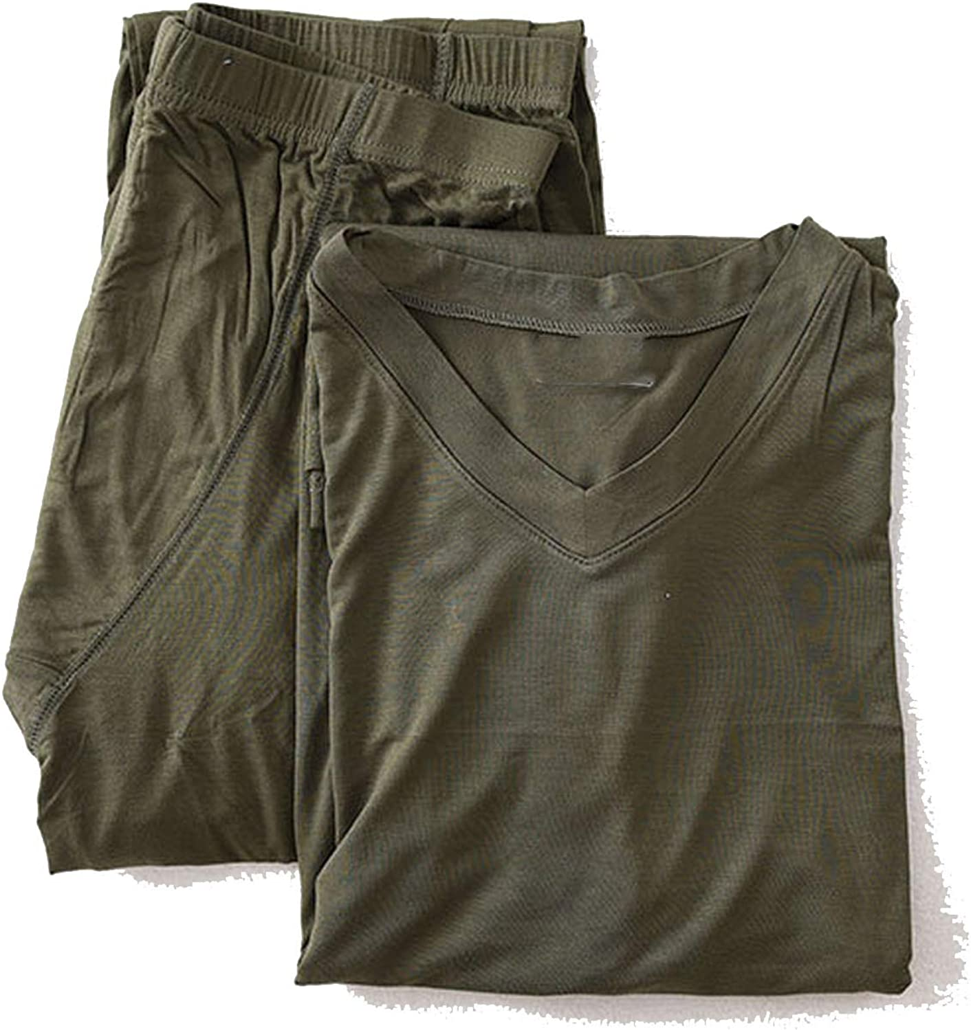 Men's Bamboo Fiber Long Sleeved Long Underwear Modal Mens Sheer Tights Thermal Underwear
