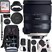 Tamron SP 24-70mm f/2.8 Di VC USD G2 Lens for Canon EF Mount AFA032C-700 with TAP-in Console Including 82mm Deluxe Filter Kit and Deco Gear Photography Backpack Pro Bundle