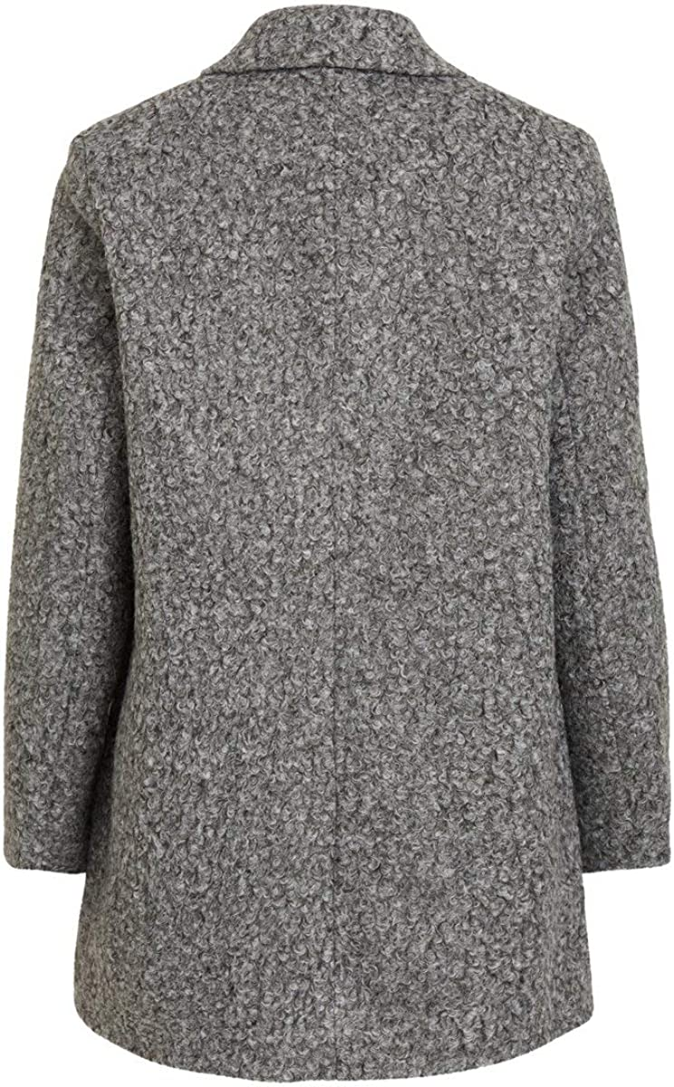 Vila Female Mantel Übergangs Medium Grey Melange