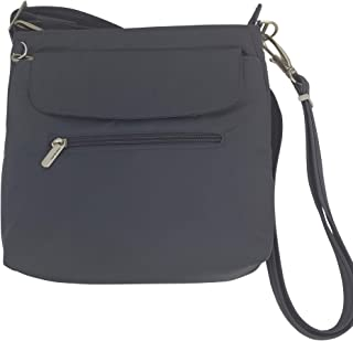Travelon Anti-Theft Classic Mini Shoulder Bag (One_Size, Charcoal/Grey Lining)