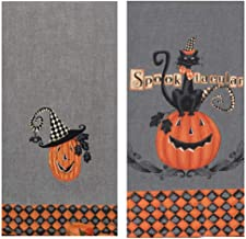 These Boots Were Made for Spookin Halloween Embroidered Kitchen Dish Tea Towel