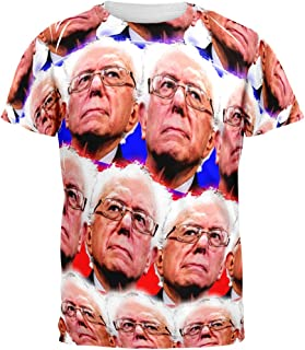 Election Bernie Sanders Face The Future 2016 All Over Adult T-Shirt