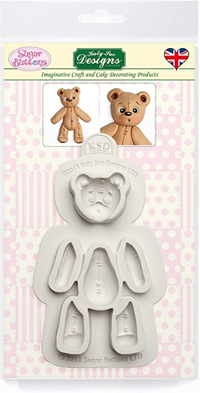 Stitched Teddy Bear Silicone Mold For Cake Decorating Cupcakes Sugarcraft Candies Clay Crafts And Card Making Food Safe