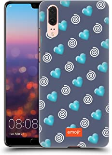 Official Emoji Hearts and Swirls Winter Patterns Hard Back Case Compatible for Huawei P20