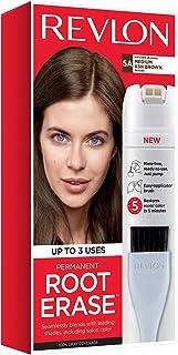 Revlon Root Erase Permanent Hair Color, Root Touchup Hair Dye, 100% Gray Coverage, 5A Medium Ash Brown, 3.2 oz