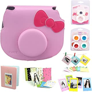 CAIUL 7 in 1 Hello Kitty Camera Accessories Bundle(Pink Hello Kitty Case/Mini Album/Close-Up Selfie Lens/ 4 Colors Close-U...