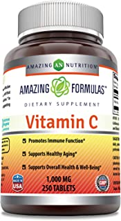 Amazing Formulas Vitamin C 1000 Mg,Tablets - (Non-GMO,Gluten Free, Vegan) - Promotes Immune Function- Supports Healthy Agi...