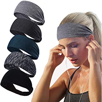 Doteonhome Womens Yoga Headband Elegant Floral Pattern Sports Athletic Headband/¡/